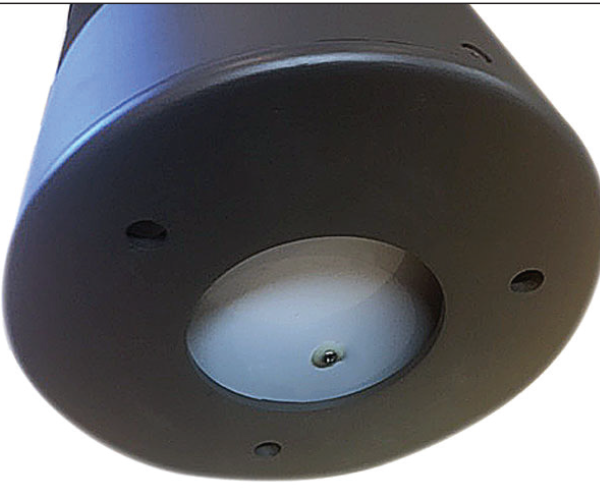 black powdercoated solar bollard