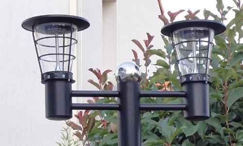 Glass solar lights double.